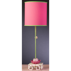 Pink Waterlily Stick Lamp