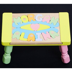 2 Name Puzzle Stool