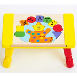 Personalized Clown Puzzle Stool