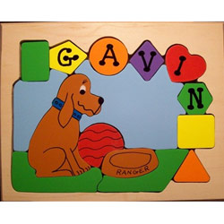 Personalized Dog Shapes Puzzle