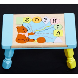 Personalized Honey Bear Puzzle Stool