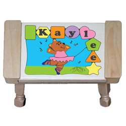 Personalized Ballerina Puzzle Stool