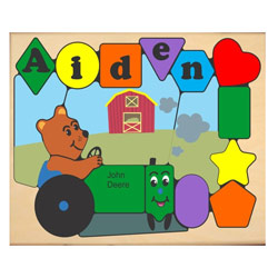 Personalized Tractor Bear Puzzle