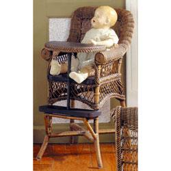 Heirloom Wicker High Chair
