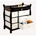 Sleigh Style Changing Table with Baskets , Baby Changing Table | Changing Tables With Drawers | ABaby.com