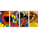 Race Car Wall Mural, Nursery Wall Art | Transportation Wall Art | ABaby.com