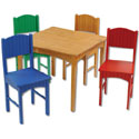 Primary Nantucket Table Set, Children Table And Chair Sets | Toddler Table And Chairs | ABaby.com