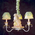 3 Arm Bunny Chandelier