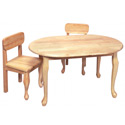 Queen Anne Oval Table and Chair Set, Children Table And Chair Sets | Toddler Table And Chairs | ABaby.com