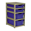 4 Tray Combo Unit, Toy Organizers | Stackable Storage Bins | Toy Chests | ABaby.com