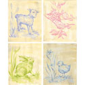 Toile Babies Canvas Wall Art, Bunnies Themed Nursery | Bunnies And Bears Bedding | ABaby.com