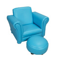 Children's Upholstered Chair With Ottoman, Kids Play Chairs | Personalized Kids Chairs | ABaby.com