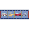 Rescue Vehicles Banner, Train And Cars Themed Nursery | Train Bedding | ABaby.com
