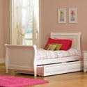 Angelica Sleigh Bed, Childrens Twin Beds | Full Beds | ABaby.com