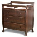 Dela Changer With 3-Drawers, Wicker Changing Tables | Wood Changing Tables | ABaby.com
