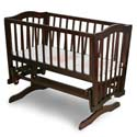 Mary Gliding Cradle, Wooden Bassinet | Antique Cradles | ABaby.com