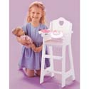 White Doll Highchair with Pink Gingham Trim, Personalized Kids Toys | Baby Toys | ABaby.com