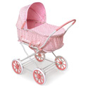 Pink Rosebud 3-in-1 Doll Pram, Baby Doll House | Accessories | Doll Furnitutre Sets