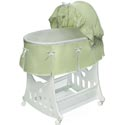 Waffle Pleated Bassinet with Toy Box Base, Baby Bassinet Bedding sets, Bassinet Skirts, Bassinet Liners, and Hoods