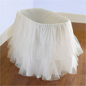 Bassinet Petticoat, Baby Girl Bassinet Bedding | Baby Girl Bedding Sets | ABaby.com
