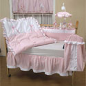 Pretty Pique Crib Bedding, Crib Comforters |  Ballerina Crib Bedding | ABaby.com