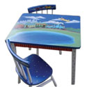 Chuggin' Along Table and Chairs Set, Personalized Table and Chair Sets | Gifts for Toddlers | ABaby.com