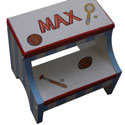Personalized Sports Step Stool, Sports Themed Nursery | Boys Sports Bedding | ABaby.com