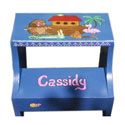 Noah's Ark Step Stool, Personalized Kids Step Stools | Step Stools for Toddlers | ABaby.com