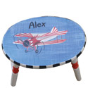Airplane Oval Step Stool, Personalized Kids Step Stools | Step Stools for Toddlers | ABaby.com