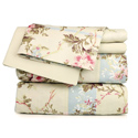 Beige Floral Printed Sheet Set, Little Girls Twin Bedding Sets | Twin Bedding Collection | aBaby.com