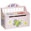 Butterfly Toy Box, Kids Toy Boxes | Personalized Toy Chest | Bench | ABaby.com