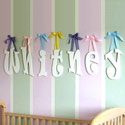 Custom Ravie Letters, Ribbon Letter | Hanging Wall Letters With Ribbon | ABaby.com