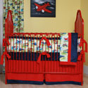 Vintage Toys Crib Bedding Set, Train And Cars Themed Nursery | Train Bedding | ABaby.com