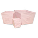 Pink Chambray Storage Bins, Nursery Storage Baskets | Toy Storage Bins | ABaby.com
