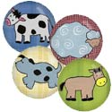 Barnyard Animal Knobs, Farm Animals Nursery Decor | Farm Animals Wall Decals | ABaby.com