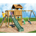 Cambridge Swing Set, Kids Swing Sets | Childrens Outdoor Swing Sets | ABaby.com