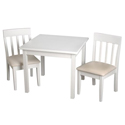 Childrens Square Table and Upholstered Slat Chair Set, Kids Table & Chair Sets | Toddler Tables | Desk | Wooden