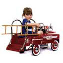 Deluxe Kids Pedal Fire Truck, Toddler Bikes | Childrens Pedal Cars | ABaby.com