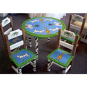 Safari Hand-painted Table and Chair Set, African Safari Themed Toys | Kids Toys | ABaby.com