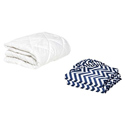Cradle Mattress Protector and 2 Chevron Sheets Combo