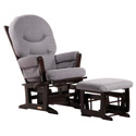 Modern Multi-Position Recliner Glider and Nursing Ottoman, Wood Glider | Sliech Gliders | ABaby.com