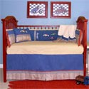 Embroidered Racecars Crib Bedding, Themed Bedding | Theme Bedding For Crib | Nursery Bedding Themes