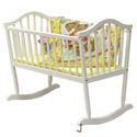 Rocking Cradle, Wooden Bassinet | Antique Cradles | ABaby.com