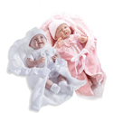 Deluxe Twin Doll Set- Pink and White