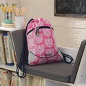 Drawstring Backpack - Damask