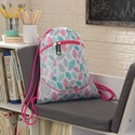 Drawstring Backpack - Leaves