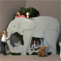 Elephant Bunk Bed, African Safari Themed Nursery | African Safari Bedding | ABaby.com