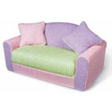 Kid's Multi Chenille Sofa Sleeper, Kids Upholstered Chairs | Personalized Upholstered Chairs | ABaby.com
