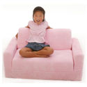 Child's Chenille Sofa Sleeper, Kids Upholstered Chairs | Personalized Upholstered Chairs | ABaby.com