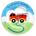 Fire Truck Name Plate, Fireman Nursery Decor | Fireman Wall Decals | ABaby.com